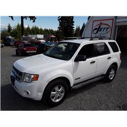 F5 --  2008 FORD ESCAPE XLS , White , 185439  KM's