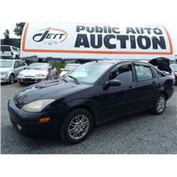 A2 --  2003 FORD FOCUS SE SEDAN, BLACK, 251,364 KMS