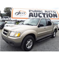 F1 --  2002 FORD EXPLORER SPORT TRAC, BROWN, 220,897 KMS