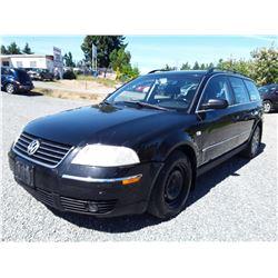 A12B --  2003 VW PASSAT GLS , Black , 275017  KM's - No Reserve