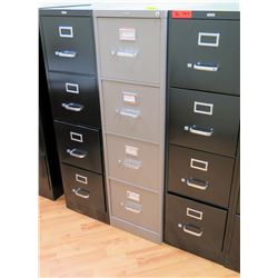 """Qty 3 Vertical File Cabinets (HON, Realspace) 15""""W x 25""""D x 52""""H"""