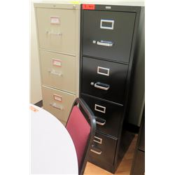"""Qty 2 Vertical File Cabinets (HON, Realspace) 15""""W x 25""""D x 52""""H"""