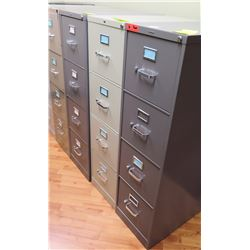 "Qty 3 Vertical File Cabinets (HON, etc) 15""W x 25""D x 52""H"