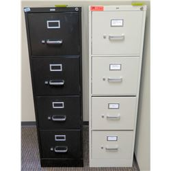 """Qty 2 Vertical File Cabinets (HON, Realspace) 15""""W x 26.5""""D x 52""""H"""