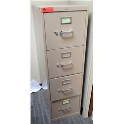 """Qty 1 Vertical File Cabinet (Beige) 15""""W x 25""""D, 49""""H"""