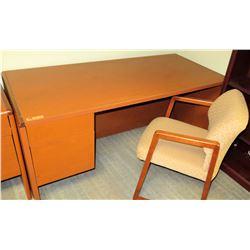 "Wooden Desk 65""L x 30""D x 30""H"