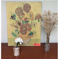 "Van Gogh Print & Vases 16.5"" x 22"""