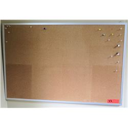 "Framed Cork Board 36"" x 24"""