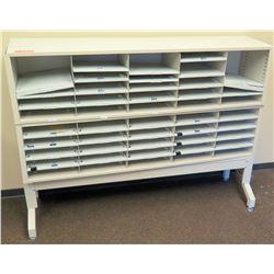 """Multi-Slot Mailroom Shelving Unit 57.5""""W x 13""""D x 42.5""""H"""