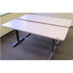 """Qty 2 Utility Tables (Desks) 72"""" x 24"""" x 29.5""""H"""