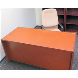 """Wooden Desk (66""""L x 30""""D x 30""""H) and 1 Office Chair"""