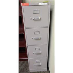 "Vertical File Cabinet (HON), Lt. Gray 15""W x 27D"" x 52""H"