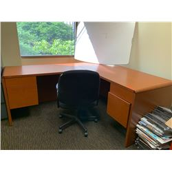 Wooden HON Desk & Office Chair