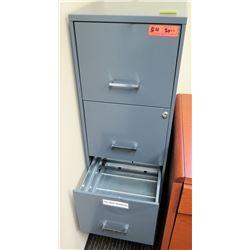 Vertical File Cabinet & Framed Dry-Erase Board 36x24