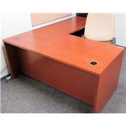 """Wooden Desk Ensemble w/ Chair 63"""" x 31.5"""" x 28""""H"""