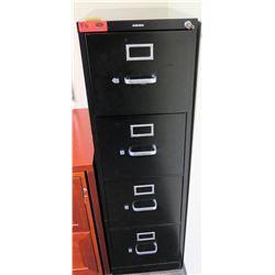"Vertical File Cabinet (HON) Black 15""W x 26D"" x 49""H"