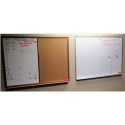 Qty 3 Corkboards / Dry-Erase Board 35.5x23.5, 48x36, etc.