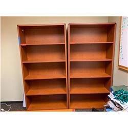 """Qty 2 Matching HON Wooden Bookcases 36""""W x 13""""D x 71""""H"""