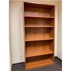 """Wooden Bookcase 36""""W x 12""""D x 72""""H & Corkboard 36x24"""