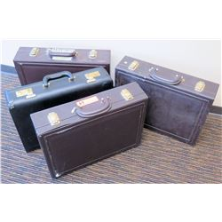 Qty 4 Empty Briefcases