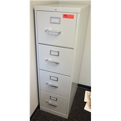 "Vertical File Cabinet, Lt. Gray 15""W x 25""D x 49""H"