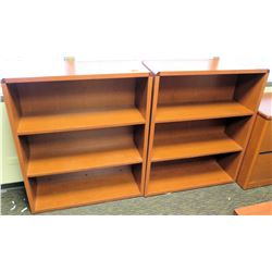 """Qty 2 Matching Wooden Bookcases 36""""W x 13""""D x 43.5""""H"""