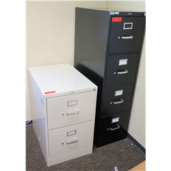 "Qty 2 HON File Cabinets (Vertical & 2-Drawer 18""W x 26""D x 29""H)"
