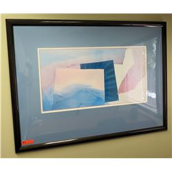 """Extra Large Framed Abstract Art Print 55"""" x 40.5"""""""