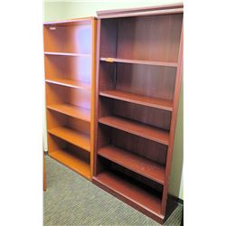 """Qty 2 Wooden Bookcases 36""""x12""""Dx73""""H & 36""""x12""""Dx71""""H"""