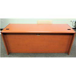 """Wooden Desk 72""""L x 24""""D x 30""""H w/ Reception Chair"""
