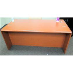 "Wooden Desk 72""L x 36""D x 30""H w/ Office Chair"
