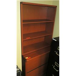 """Wooden File Cabinet 36""""L x 20"""" x 30""""H & Wooden Bookcase"""
