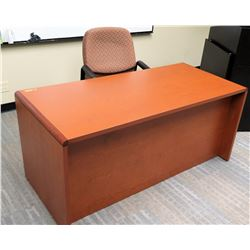 "Wooden Desk 66""L x 30""D x 30""H and 1 Office Chair"