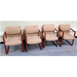 Qty 4 Upholstered Reception Chairs