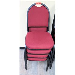 Qty 4 Banquet Chairs
