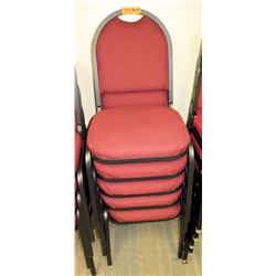 Qty 5 Banquet Chairs
