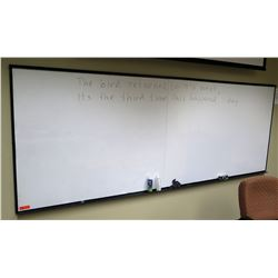 "Large Dry-Erase Board 134"" x 48"" (2 pieces joined together)"