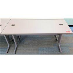 """Qty 2 Utility Tables (Desks) 60"""" x 24"""" x 29""""H"""
