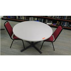 "Round Table 48"" Dia, 29.5"" H (Includes 2 Chairs)"