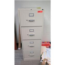 "Vertical File Cabinet (HON) 18""W x 26.5D"" x 52""H"