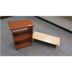 Small Wooden Bookcase & Wooden Riser (Platform)