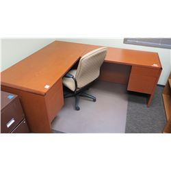 "Wooden Desk 48""L x 24"" x 30""H w/ Office Chair"