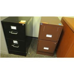 "Qty 2 File Cabinets (2-Drawer) 15""W x 22D"" x 29""H"