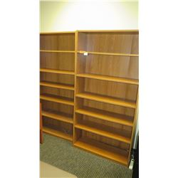 "Qty 2 Wooden Bookcases 36"" x 12""D x 72""H"
