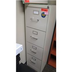 "Qty 2 File Cabinets (2-Drawer 15""W x 26.5""D x 29""H & Vertical 15""W x 25D"" x 52""H)"