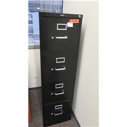 "Vertical File Cabinet (HON) 15"" x 26"" x 52""H and Corkboard 36""x24"""
