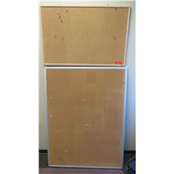 "Qty 2 Corkboards 35"" x 23"" and 36"" x 48.5"""