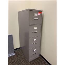 "Qty 2 Vertical File Cabinet (HON), Gray 15""W x 26""D x 52""H"