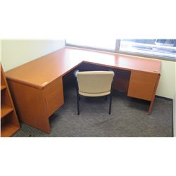 "Wooden Desk 65""L x 30""D x 30""H w/ Chair"