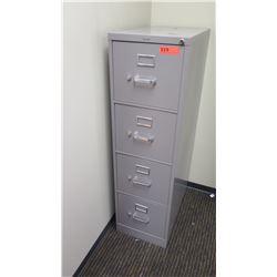"Vertical File Cabinet (HON), Gray 15""W x 26.5""D x 52""H"